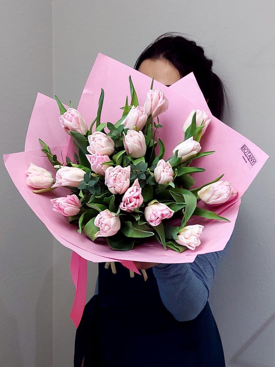 Монобукет из тюльпанов №1453