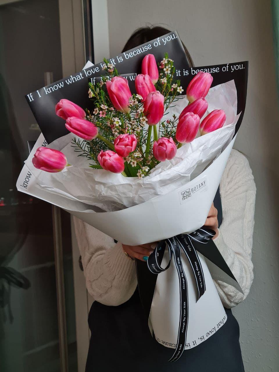 Монобукет из тюльпанов L4771