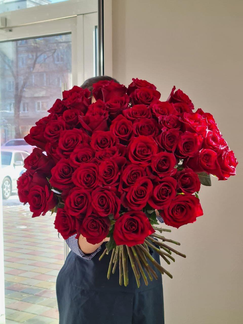 Монобукет из розы №2118