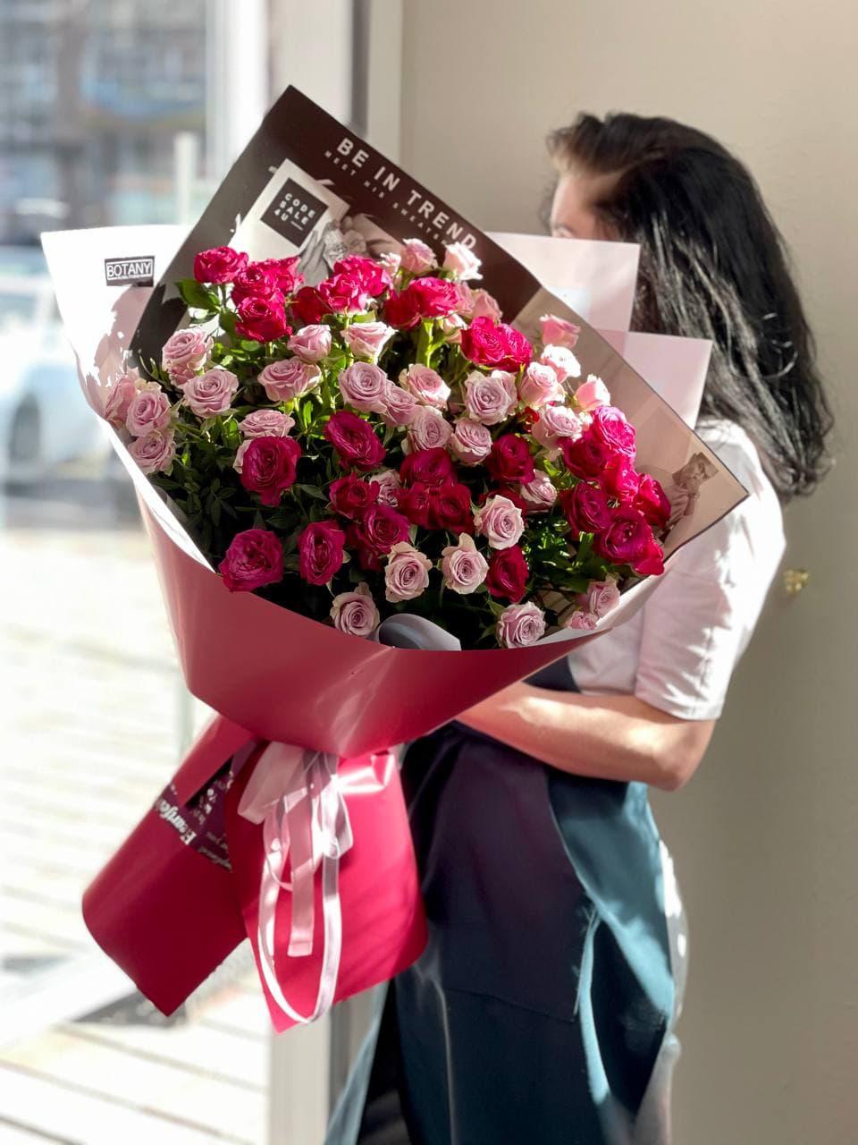 Монобукет из розы №2120