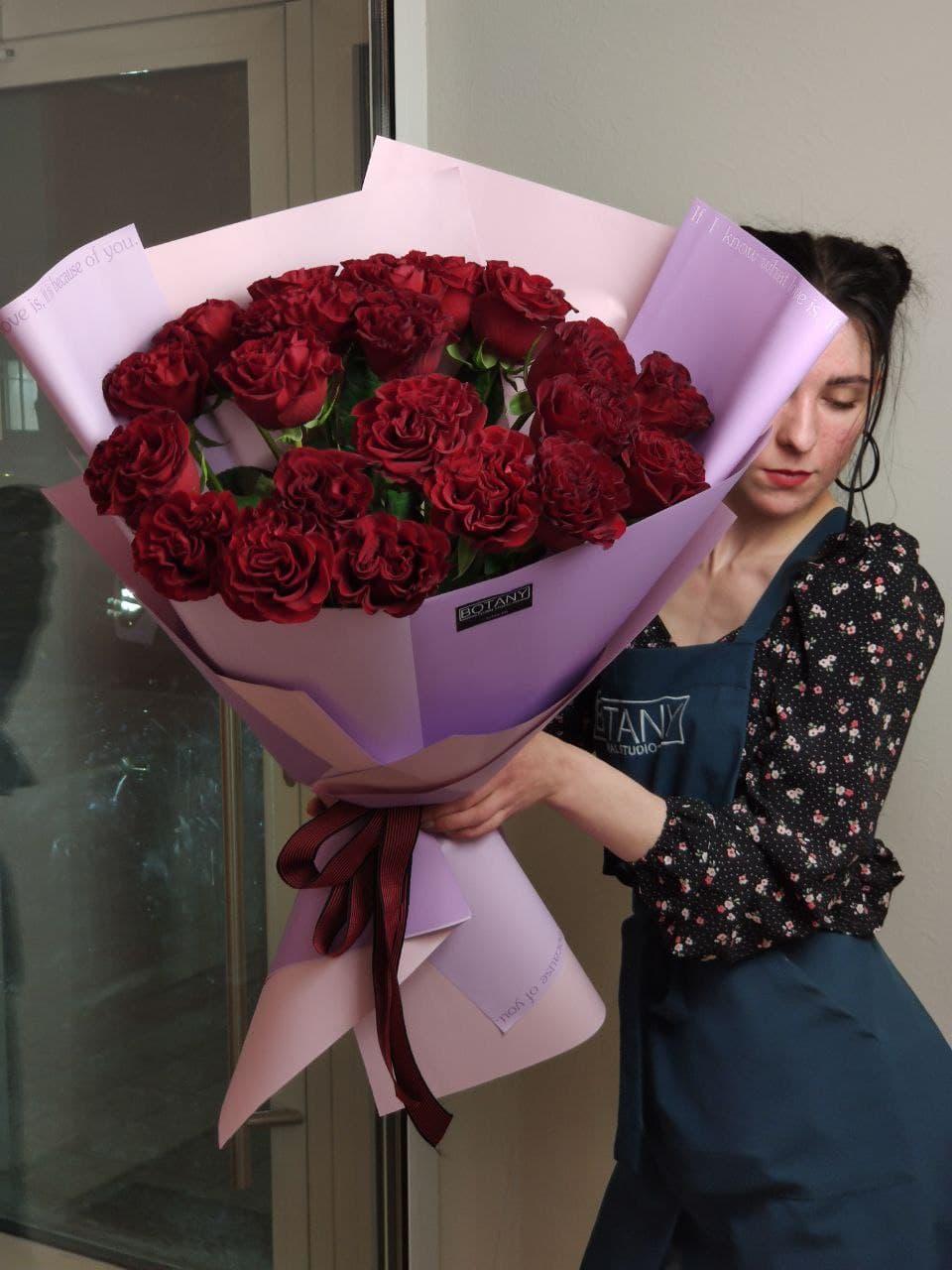 Монобукет из розы №7518