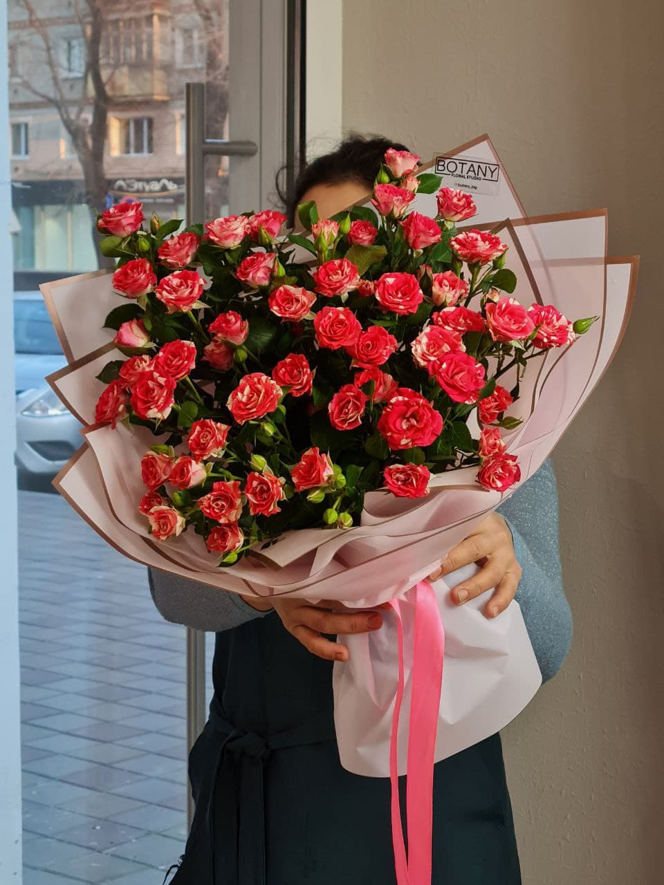 Монобукет из розы L5874