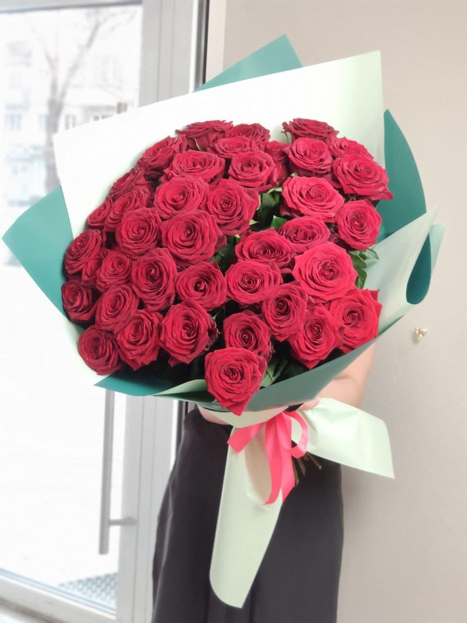 Монобукет из розы №9405