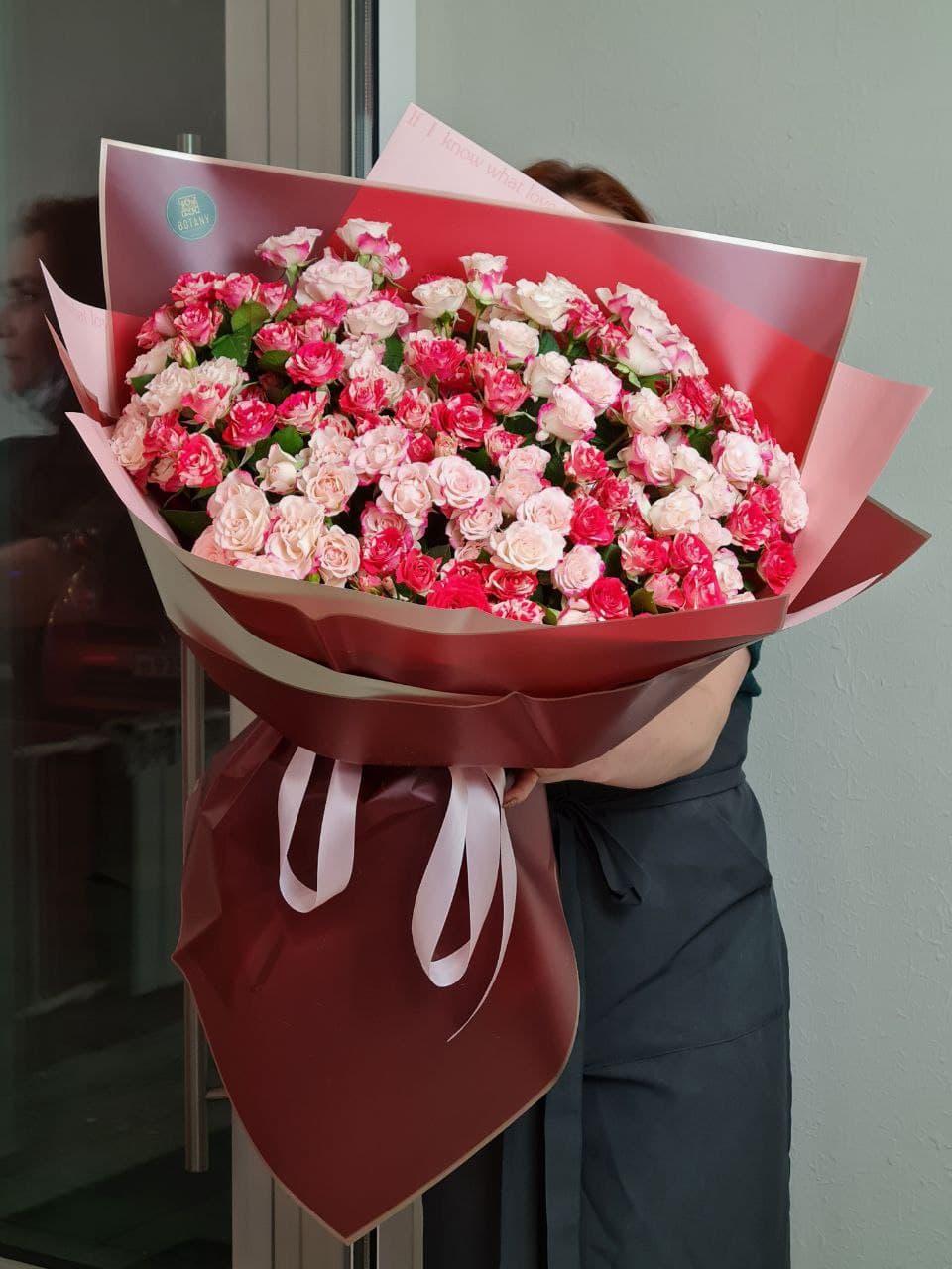 Монобукет из розы №6640