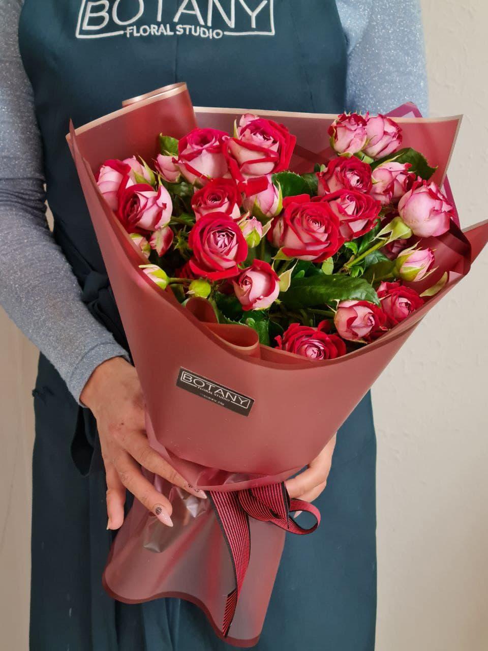 Монобукет из розы №9355