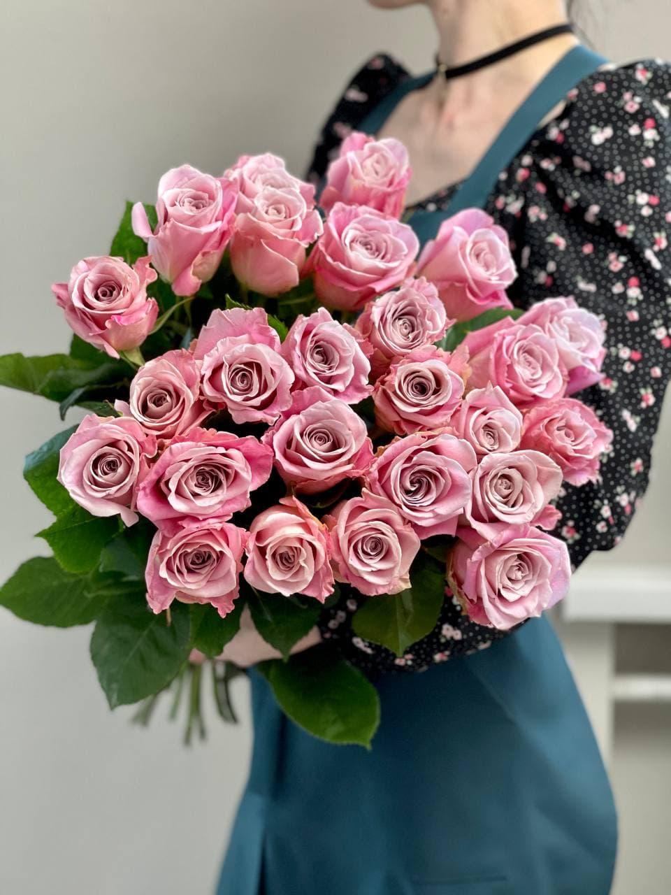 Монобукет из розы «FAITH» 25 штук