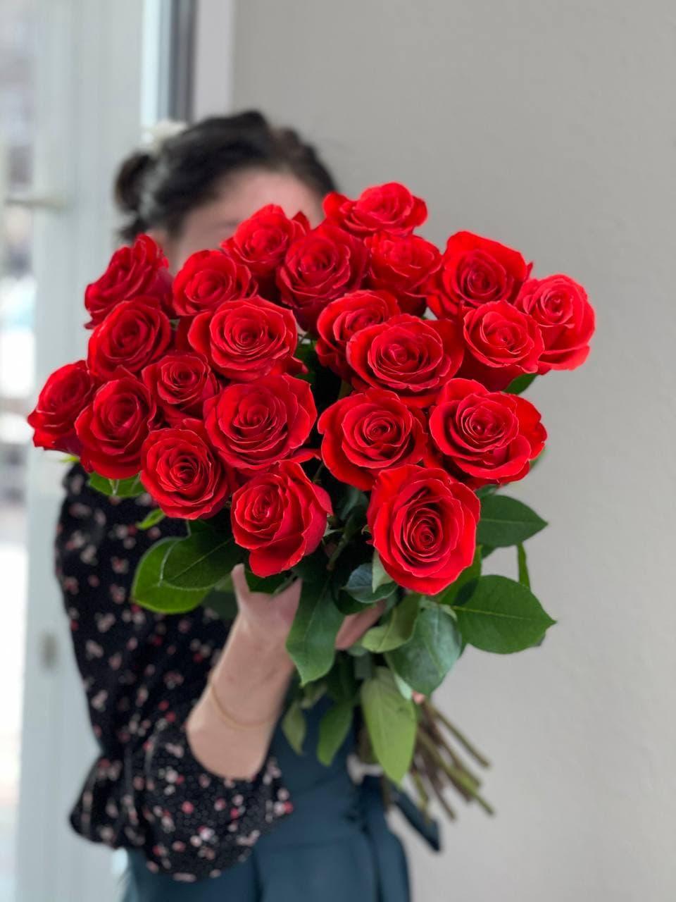 Монобукет из розы «NINA» 25 штук